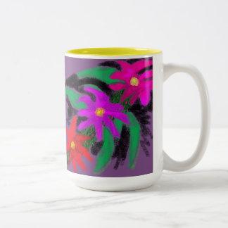 Bloemen Tweekleurige Koffiemok