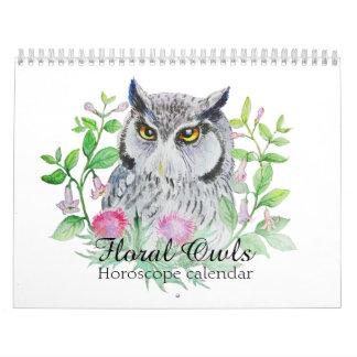 Bloemen uilen Uw teken van de bloemhoroscoop Kalender