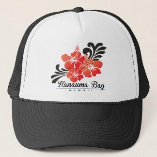 Bloemen van de Hibiscus van Hawaï de Rode Trucker Pet