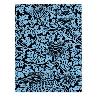 Bloemen van de Vogel van het Patroon van William Briefkaart