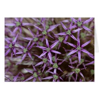 Bloemen van een Perzische ui Wenskaart