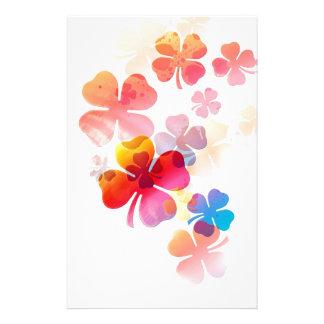 Bloemen veelvoudig patroon briefpapier papier