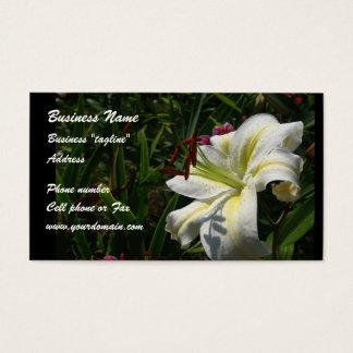 Bloemen visitekaartje visitekaartjes