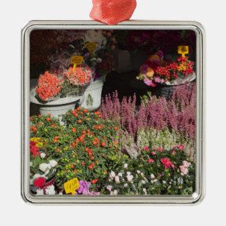 bloemen voor verkoop in Campo de worden getoond Zilverkleurig Vierkant Ornament