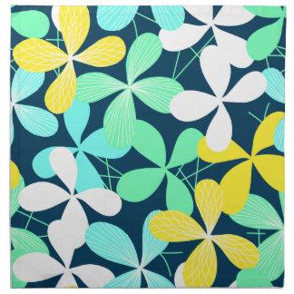 Bloemen vormen en lijnen servet