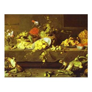 Bloemen, Vruchten en Groenten door Frans Snyders Briefkaart