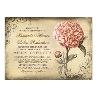 Bloemen Wijnoogst - de Roze Uitnodigingen van het