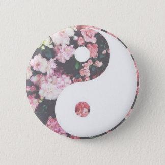 Bloemen Yin Yang Ronde Button 5,7 Cm