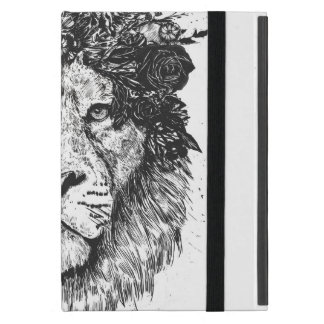 Bloemen (zwart-witte) leeuw iPad mini hoesje
