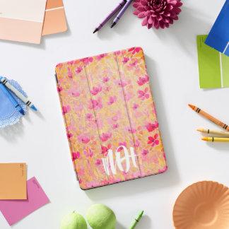 BloemenGirly Roze iPadhoesje van het monogram iPad Pro Hoesje