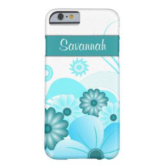 BloemeniPhone van de Blauwgroen Hibiscus van Aqua Barely There iPhone 6 Hoesje