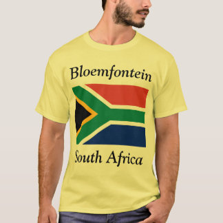 Bloemfontein, Zuid-Afrika met Zuidafrikaanse Vlag T Shirt