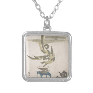 Bloemstuk - Utagawa Itchinsai Zilver Vergulden Ketting