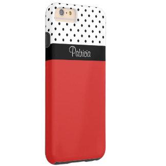 Blok van de Kleur van de Stippen van het monogram Tough iPhone 6 Plus Hoesje