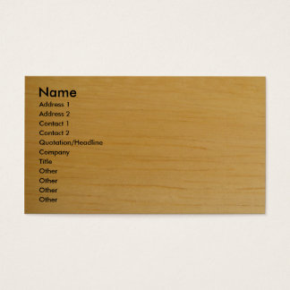 Blond Houten Visitekaartje Visitekaartjes