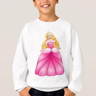 Blonde Prinses in Roze Kleding Trui