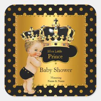 Blonde van de Jongen van het Baby shower van de Vierkante Stickers