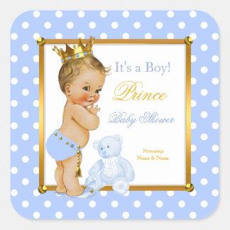 Blonde van de Stip van de Jongen van het Baby Vierkante Stickers
