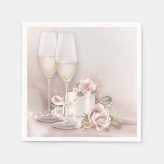 Bloos Champagne en Cake Wegwerp Servetten