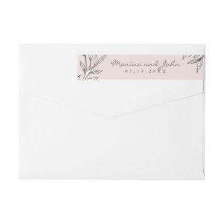 Bloos de Rustieke Envelop van de Uitnodiging van