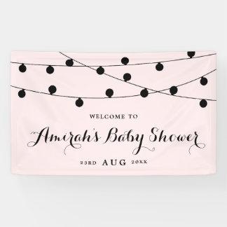 Bloos het Roze Capricieuze Baby shower van de Spandoek