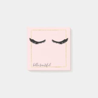 Bloos het Roze Zwarte Gouden Vierkant van Glam van Post-it® Notes
