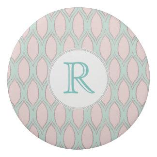 bloos roze en munt Modern Geometrisch Patroon Gum