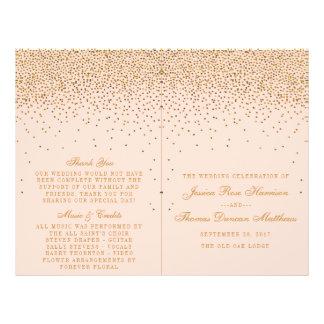 Bloos Roze & Gouden de bi-Vouwen van het Huwelijk Folder