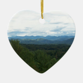 Blue Ridge Mountains - NC Keramisch Hart Ornament