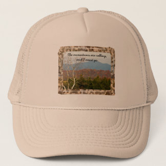Blue Ridge Mountains roept Citaat | Natuur Trucker Pet