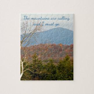Blue Ridge Mountains roept ik moet gaan het Citaat Legpuzzel