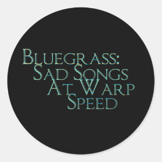Bluegrass: Droevige Liederen bij de Snelheid van d Ronde Sticker