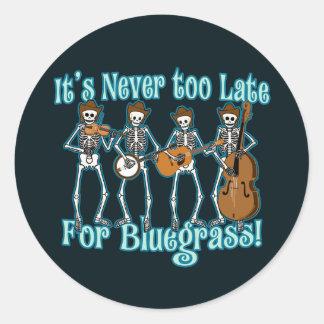 Bluegrass verder ronde sticker