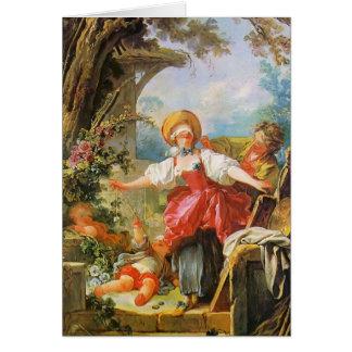 Bluff van de Blinde van Jean-Honore Fragonard- Kaart