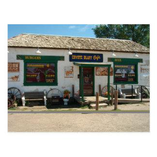 Bluff van de coyote Koffie in Amarillo, Texas | Briefkaart