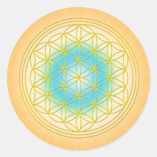 Blume des Lebens Motiv 2 Ronde Sticker