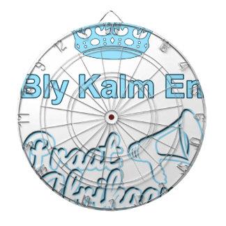 Bly-Kalm-Engels-Praat-Afrikaans Dartbord
