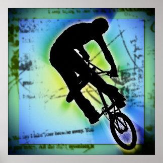 BMX Berg Biking Poster