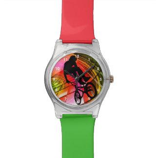 BMX in Lijnen & Cirkels Horloge