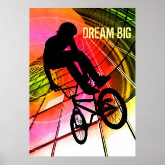 """BMX in Lijnen en Cirkels """"Grote Droom """" Poster"""