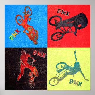 BMX kleurenexplosie, Copyright Karen J Williams Poster