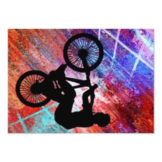 BMX op Roestige Grunge Kaart