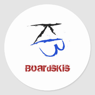 BoardsKis - (de Witte) Sticker van het Embleem
