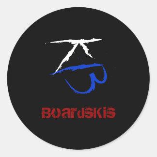 BoardsKis - (de Zwarte) Sticker van het Embleem