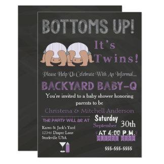 Bodems op van Tweelingen baby-de Uitnodiging van