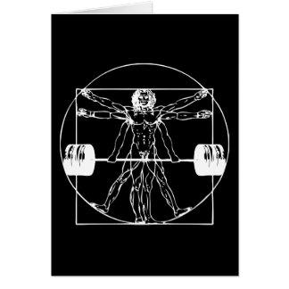 Bodybuilding - het Man van Vitruvian Barbell Briefkaarten 0