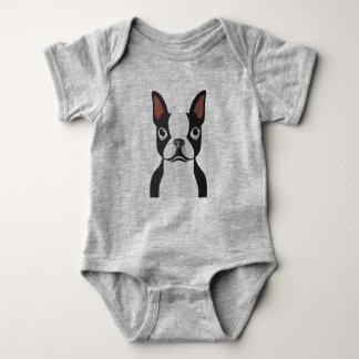 Bodysuit van Boston Terrier Jersey van het baby