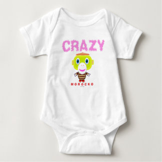 Bodysuit van het baby    Gek door Morocko