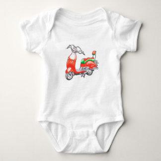 Bodysuit van het baby met autoped