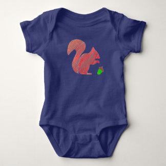 Bodysuit van het Baby van de eekhoorn Gift van de